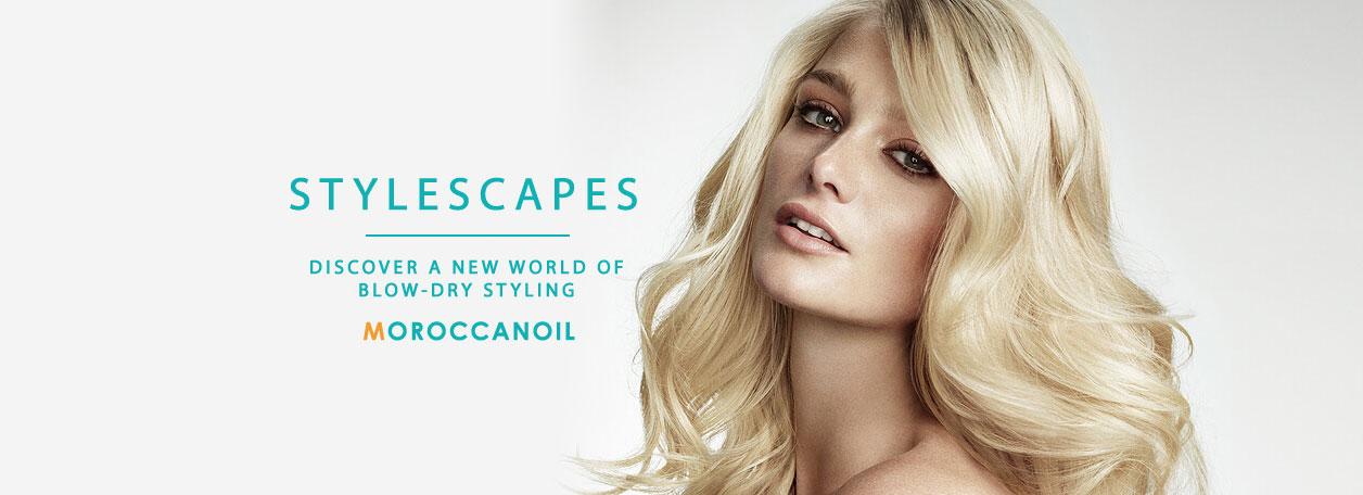 moroccanoil stylescapes hair salon